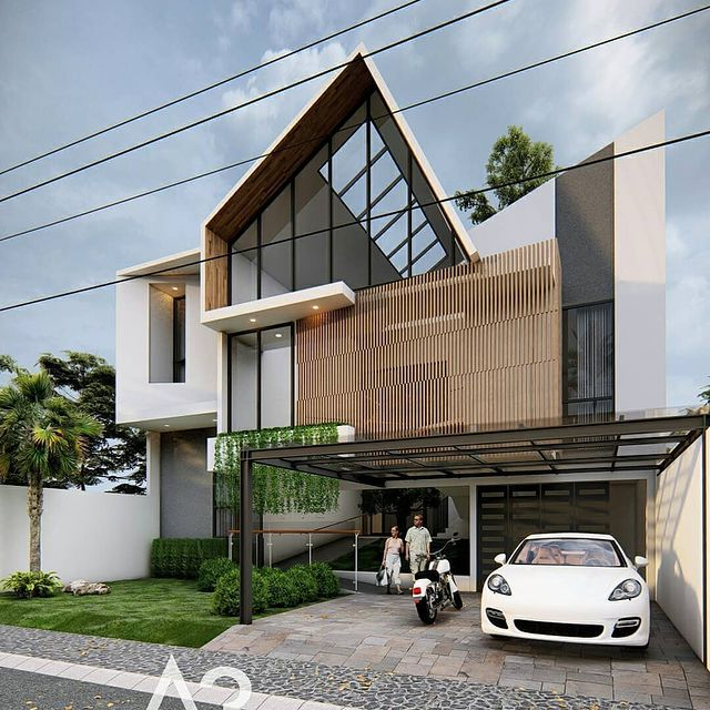 desain rumah bata merah