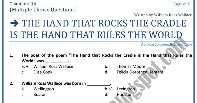 The Hand That Rocks Essay Sample