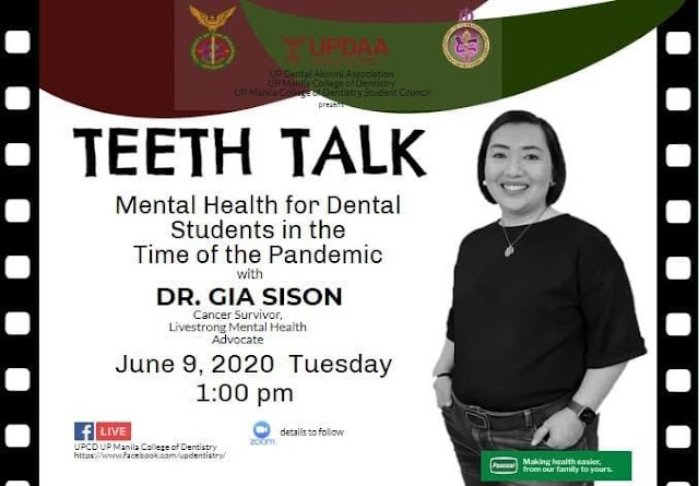 "UP Webinar: ""TeethTalk: Mental Health for dental students in the time of the Pandemic"""