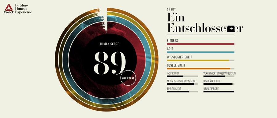 reebok human score test