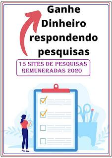 15 Sites de Pesquisas Remuneradas Online em Português para você ganhar uma renda extra 2020