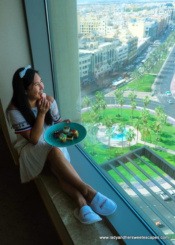 view from Swissotel Al Ghurair bedroom