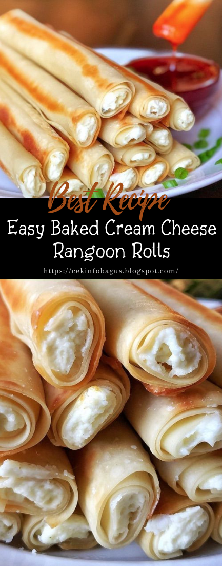 Easy Baked Cream Cheese Rangoon Rolls #healthyfood #dietketo