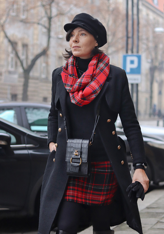 płaszcz militarny damski