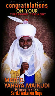 Prince mk has been crownd as Sariki Waka of kin Nupe