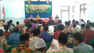 Rapat Penyusunan RDKK Pupuk Bersubsidi Tahun 2019 di Aula Kecamatan Pituruh