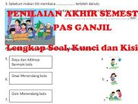 Kisi-kisi, Soal dan Kunci Jawaban Penilaian Akhir Semester 1 (PAS) Kelas 1 Kurikulum 2013