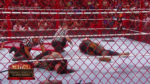 Hell In A Cell 2018, Brock Lesnar  Roman Reigns Vs Braun Strowman