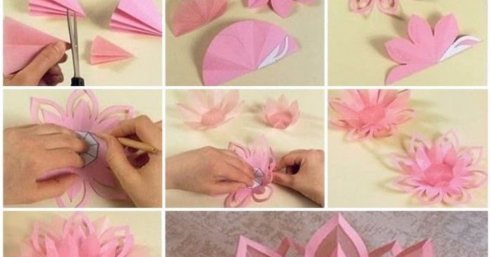 Diy lotus candlestick made out of simple paper yours for Diy paper lotus candlestick