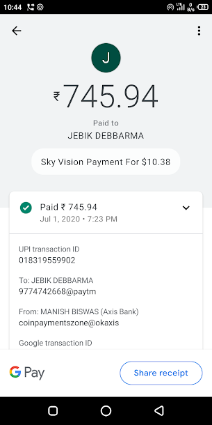 Payment Proof 01