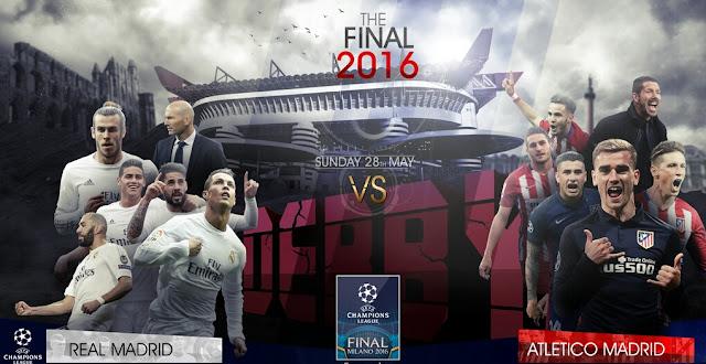 Prognóstico: Real Madrid x Atléticode Madrid – 28/5/2016 – Liga dos Campeões Final