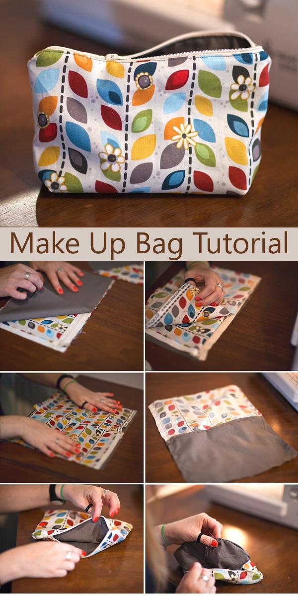 Zipped Make Up Bag Tutorial