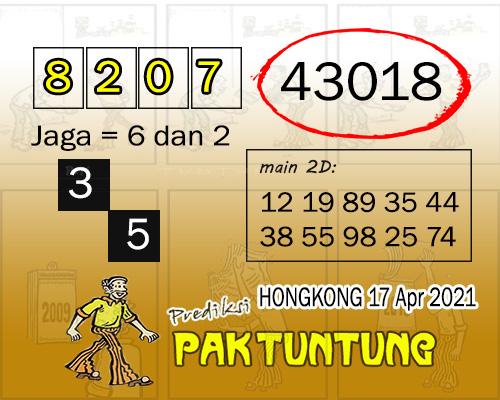 Syair HK Sabtu 17 April 2021 -