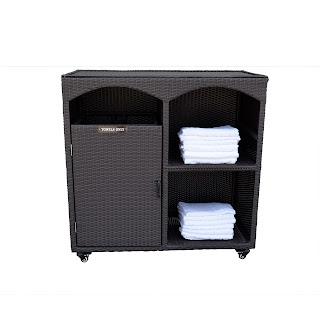 Amtex Pool Gym Towel Caddy Single Cabinet46lx24wx45