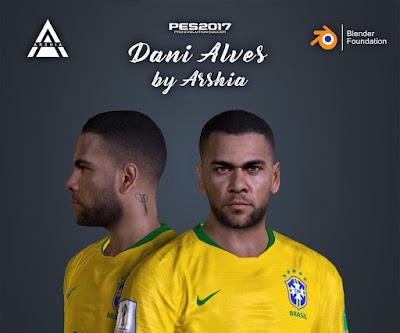 PES 2017 Dani Alves Face by Arshia