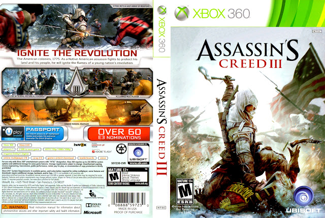 Capa xBox360 Assassin's Creed III