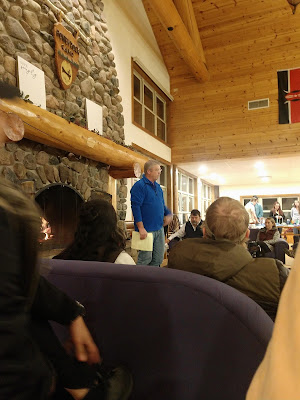 Jeff Tindal introducing Dr McGowan