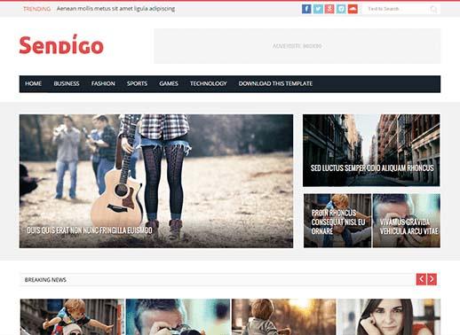 Sendigo Blogger Template