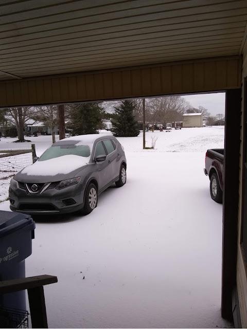 Snowing in Louisiana