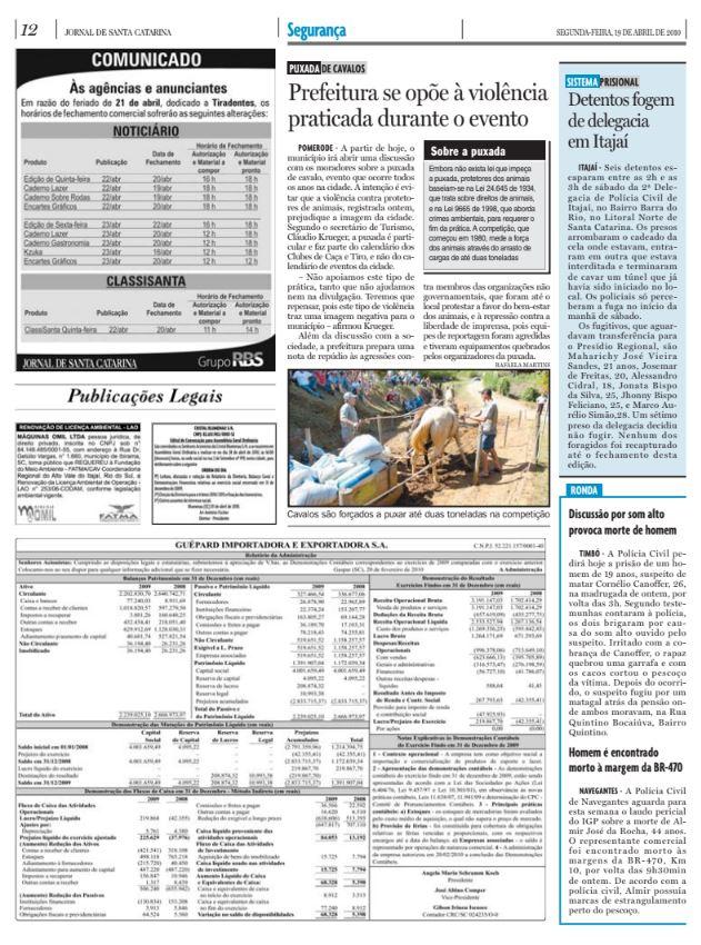 Puxada de cavalos em Pomerode termina em agressão aos defensores dos animais como Aprablu e Ama Bichos em reportagem do Jornal de Santa Catarina e do Diário Catarinense, da RBS, de Cristian Edel Weiss, Cristian Weiss