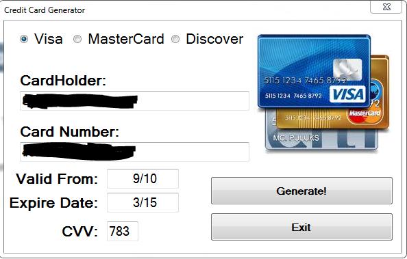 Valid Credit Card Numbers 2012