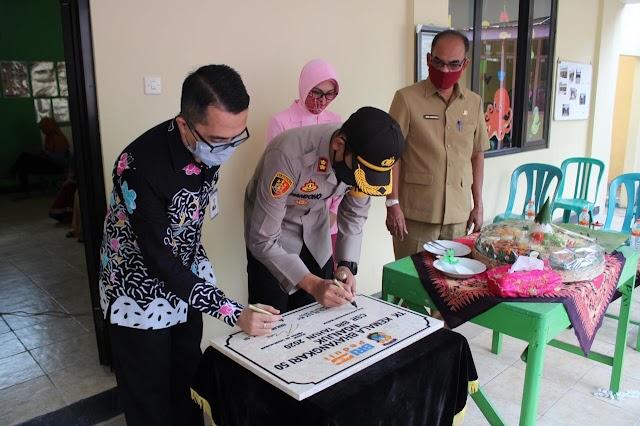 Ciptakan Generasi Millenial Kapolres Nganjuk Resmikan Renovasi TK Bhayangkari 50 Kota Nganjuk