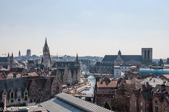 Panoramica de Gante desde el castillo