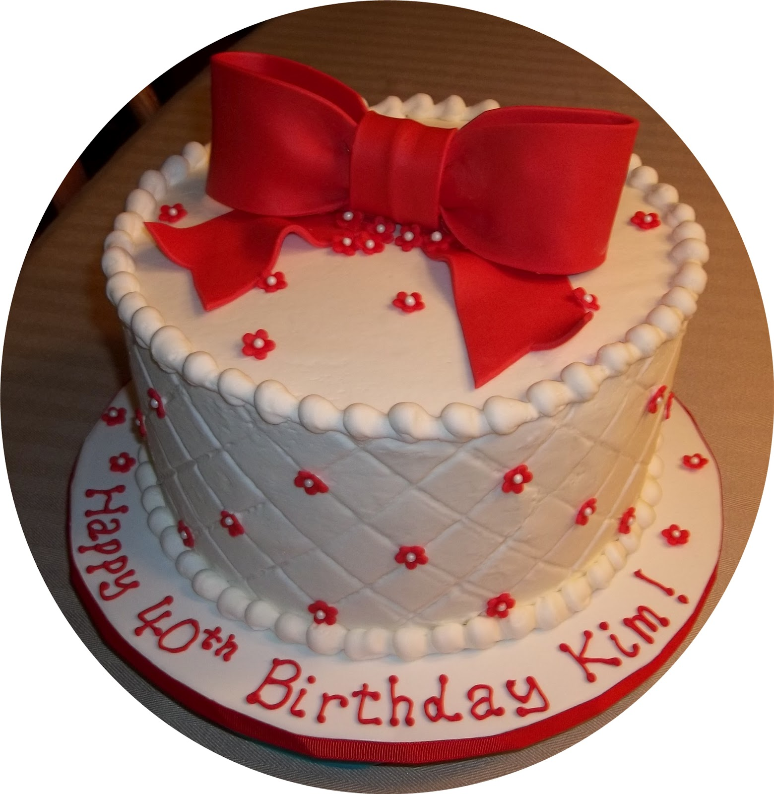 Bobbie S Cakes And Cookies Red And White Birthday