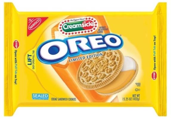 Creamsicle Oreo-Stuffed Orange Cookies ~ Crackerjack23