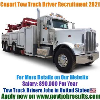 Copart Tow Truck Driver Recruitment 2021-22