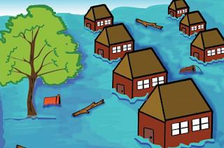 Gambar keadaan lingkungan yang terkena banjir www.simplenews.me