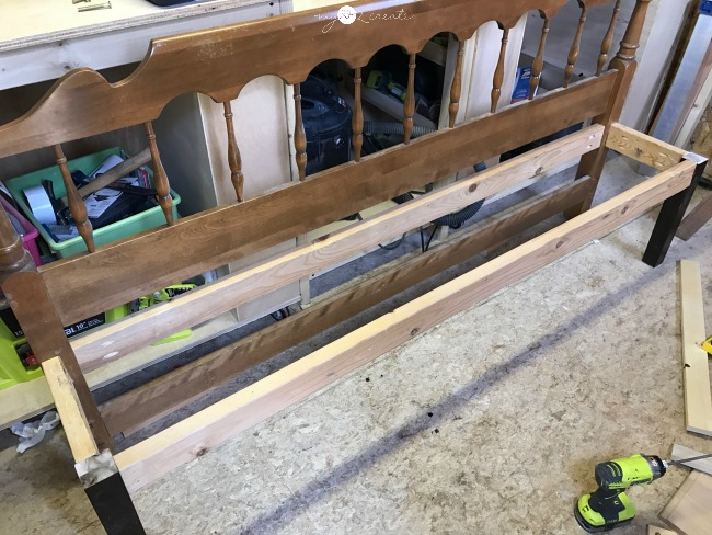 bench ready for seat supports