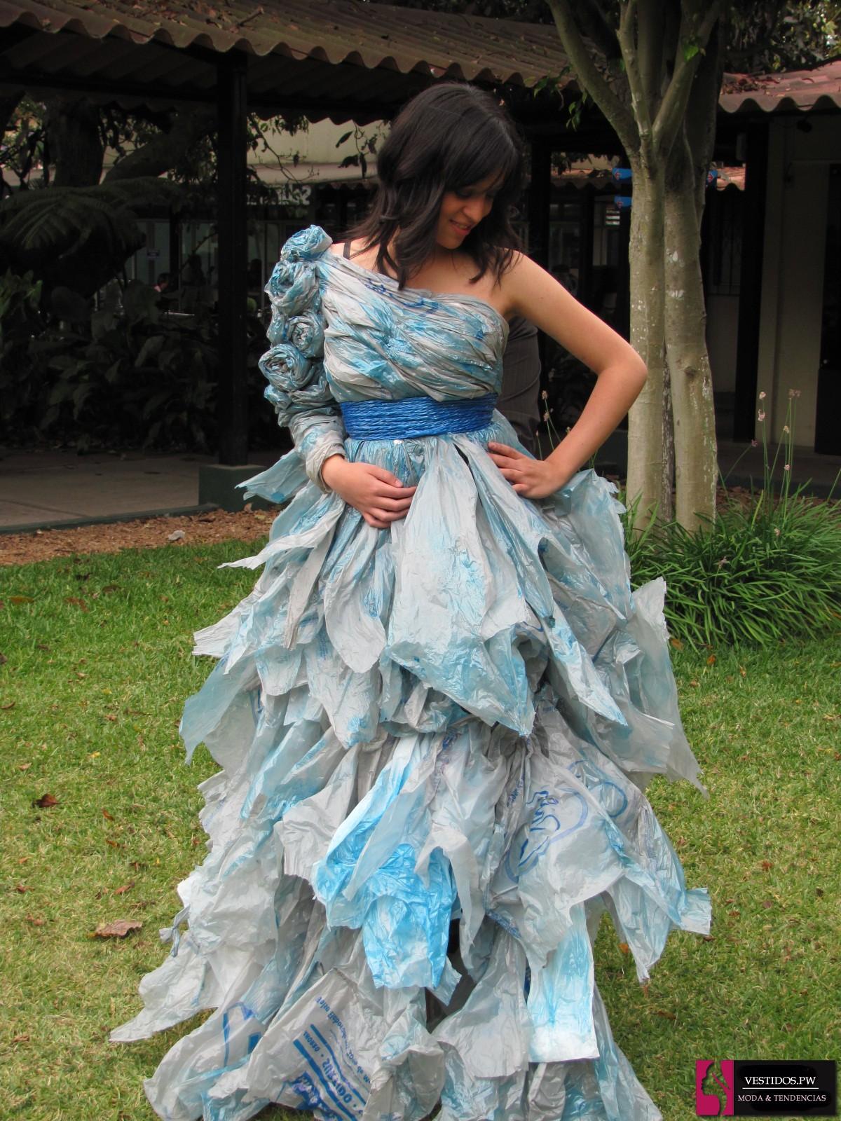 Como hacer vestidos reciclados bonitos