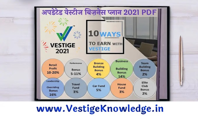 Vestige Business Plan 2021 PDF Download