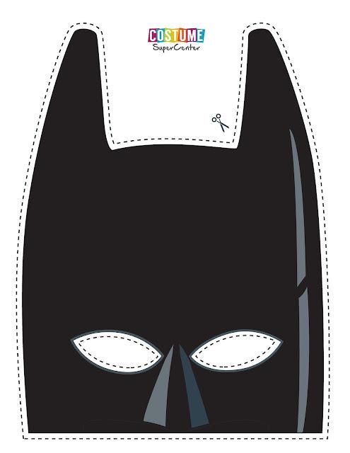 Batman Lego: Máscara para Imprimir Gratis.