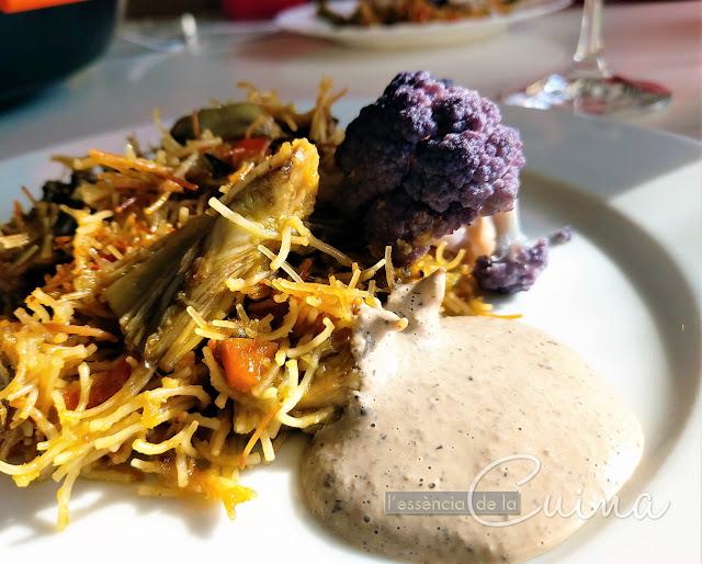 Fideuà, verdures, broquil, cuina-facil, l'essencia-de-la-cuina, blog de cuina de la sonia