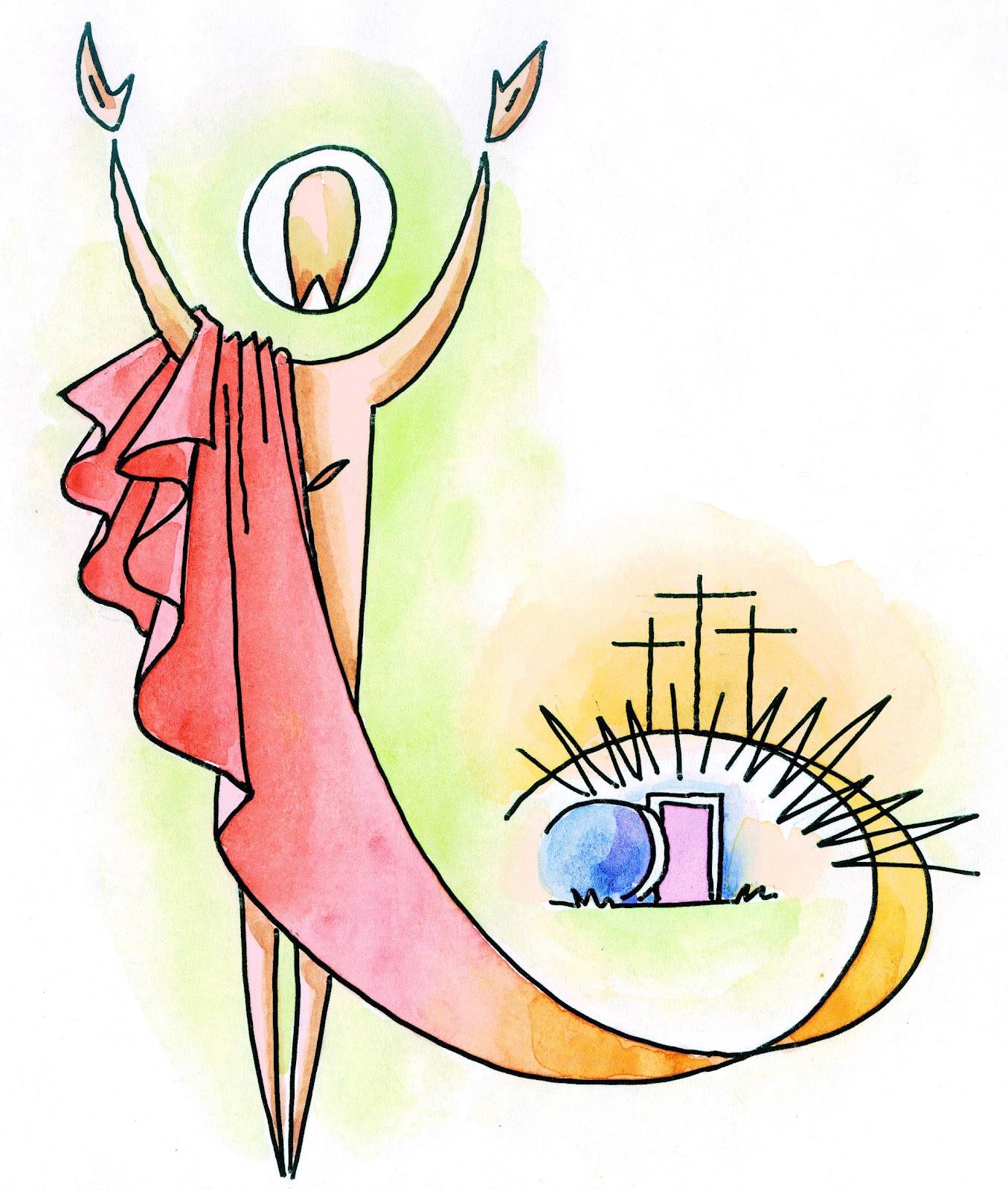 Risultati immagini per buona pasqua immagini risurrezione stilizzate