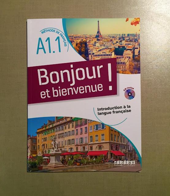 """Recenzje #186 - """"Bonjour et bienvenue !"""" - okładka podręcznika - Francuski przy kawie"""