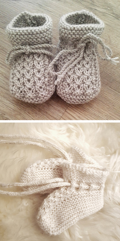 Little Eyes Baby Booties - Free Knitting Pattern