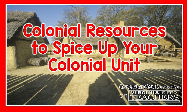 Virginia history begins with studies of the Jamestown Colony, and this post is filled with ideas for teaching about Colonial Times across the curriculum. Check it out on Virginia is for Teachers.