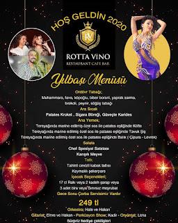 Rotta Vino Restaurant Kuşadası Yılbaşı Programı 2020 Menüsü