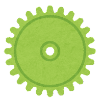ギアのイラスト(緑)
