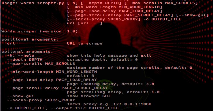 Words Scraper : Selenium Based Web Scraper To Generate Passwords List