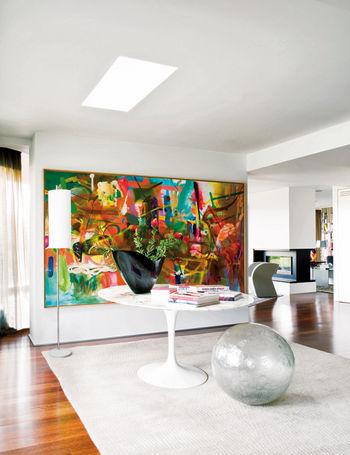 estos grandes lienzos sobre el sof cerca de la mesa del comedor en el de la casa acurdate de dejar distancia para que la obra pueda - Cuadros Grandes Dimensiones