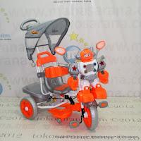 Sepeda Roda Tiga Family F845FT Robot Suspensi Bintang Orange