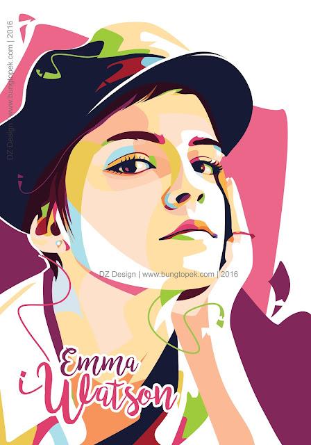 POP ART PORTRAIT Emma Watson