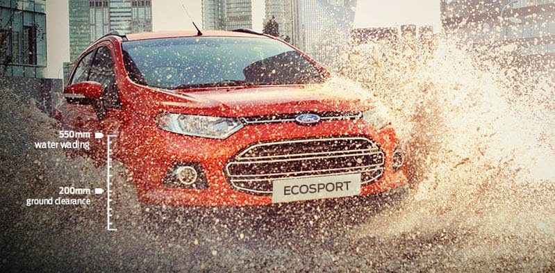 fitur ford ecosport Ground Clearance Yang Tinggi