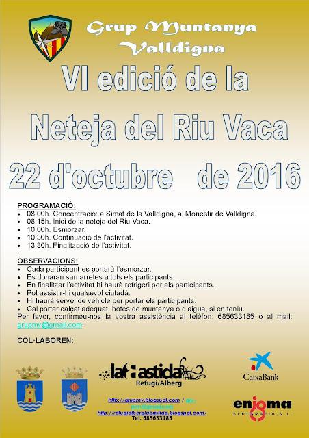 VI EDICIÓ DE LA NETEJA DEL RIU VACA Tweet