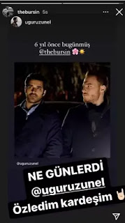 what note did Kerem Bursin dropped on remembering his six years old Turkish Series?