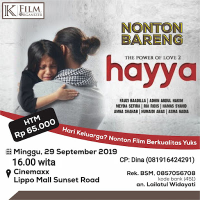 Jadwal Nobar Film Hayya di Bali